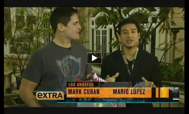 Click to Watch Mark Cuban on Extra TV