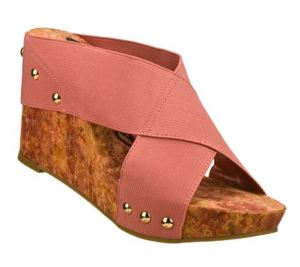 pink wedge