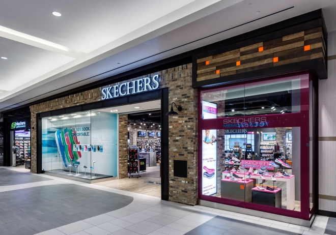 NOW:  Skechers retail store opened in 2014