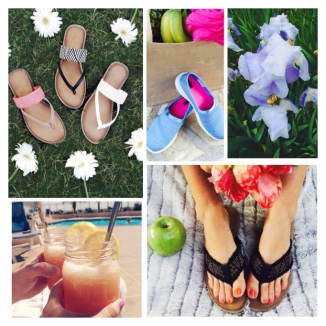Sandal collage