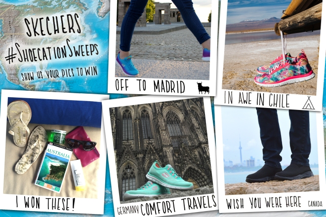 672ffe44a628 We want to see where you travel with Skechers! Post photos to Instagram of  your Skechers on vacation with  ShoecationSweeps and you could win a travel  prize ...
