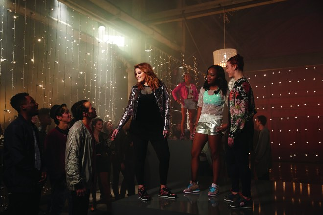 Meghan Trainor on set