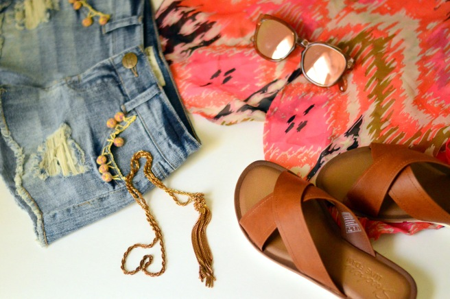 Criss Crossover Sandals flatlay
