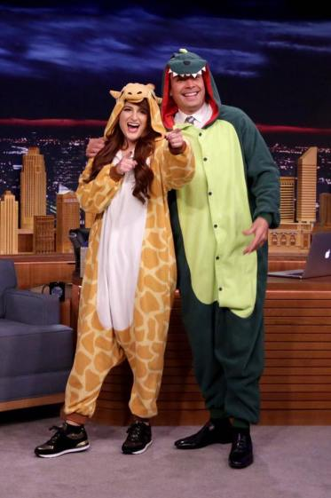 Meghan Trainor with Jimmy Fallon