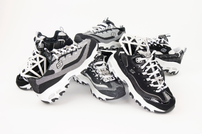 a28ff31689 We re starting 2017 in style by giving one of Skechers  biggest trends of  the past decade a sparkling new update  the D Lites Diamond Anniversary  Collection ...