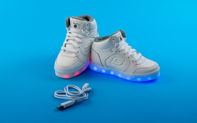 skechers shoes light up white. Our Energy Lights Rechargeable Shoes Have Been A Huge Hit This Year \u2013 Kids\u0027 Styles Flown Off The Shelves Since They Launched, And Now They\u0027re Skechers Light Up White R