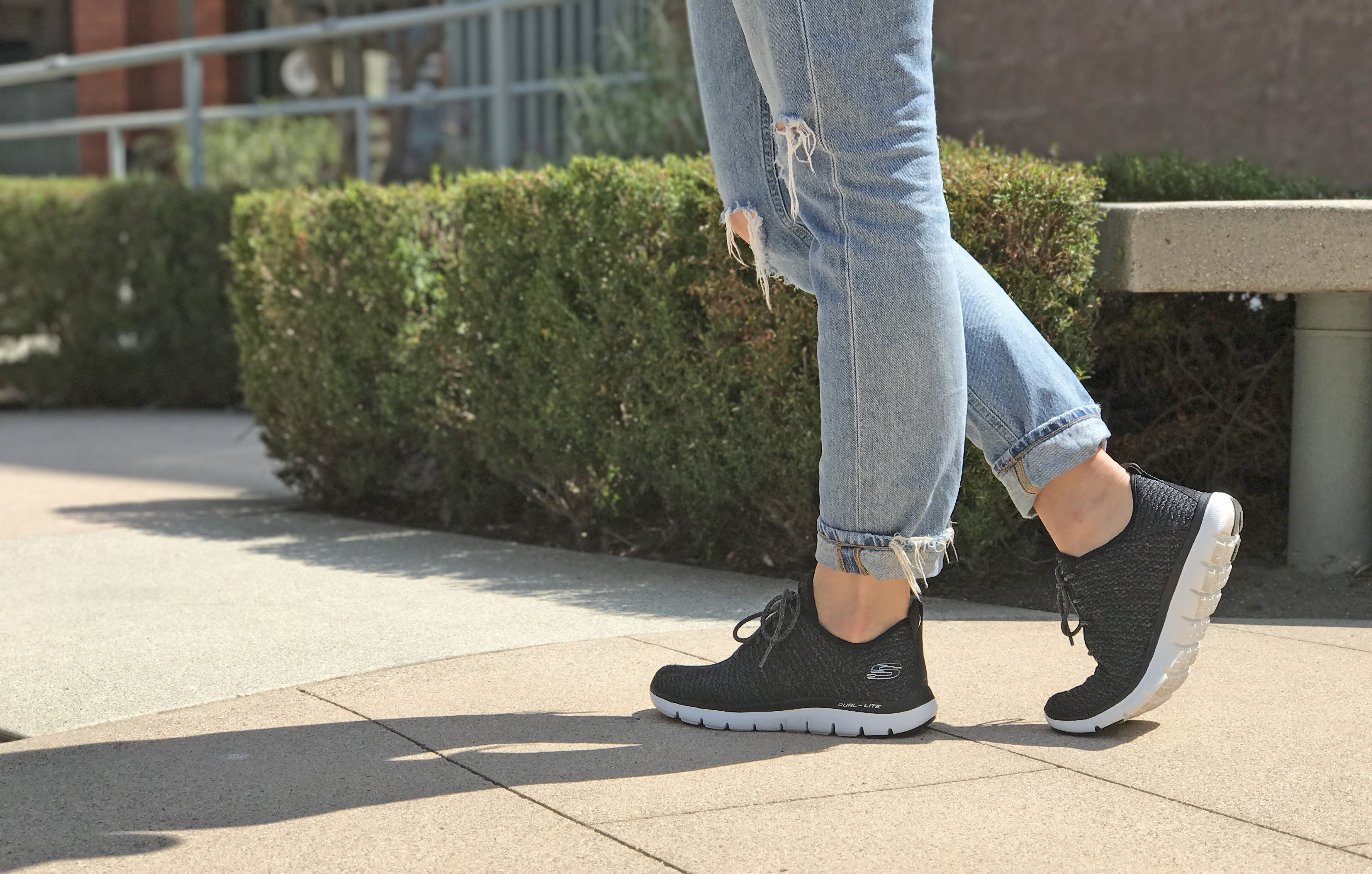 f02c1274bee Since working out is my job, I am pretty much always wearing comfortable  shoes like the Skechers Flex Appeal 2.0 – Bold Move so I can go from class  to gym ...